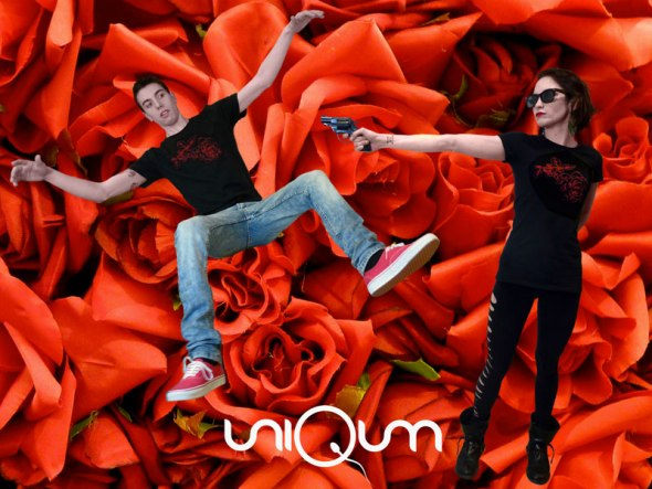 uniQum_T-shirt_Rose rosse per te